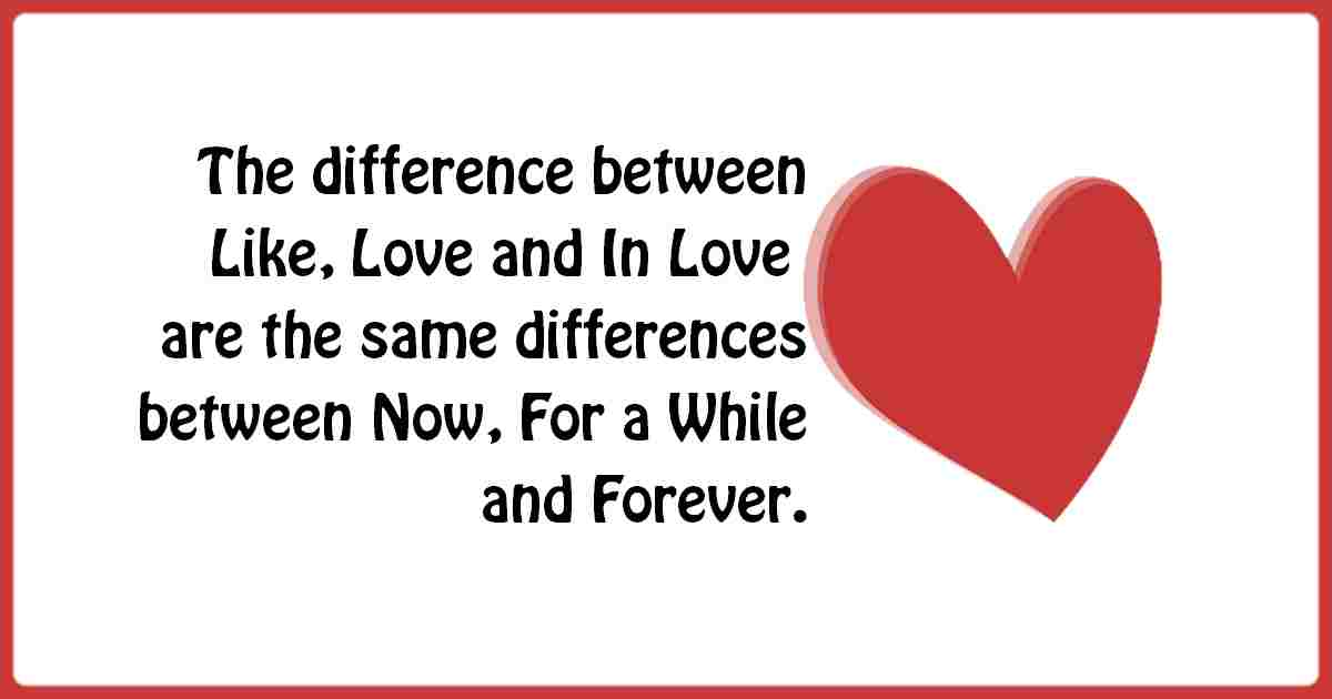 Diffrence between like and love