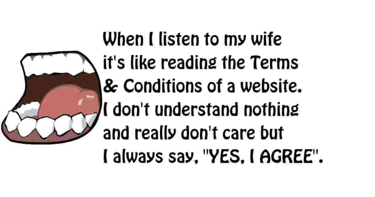 Listen to my wife