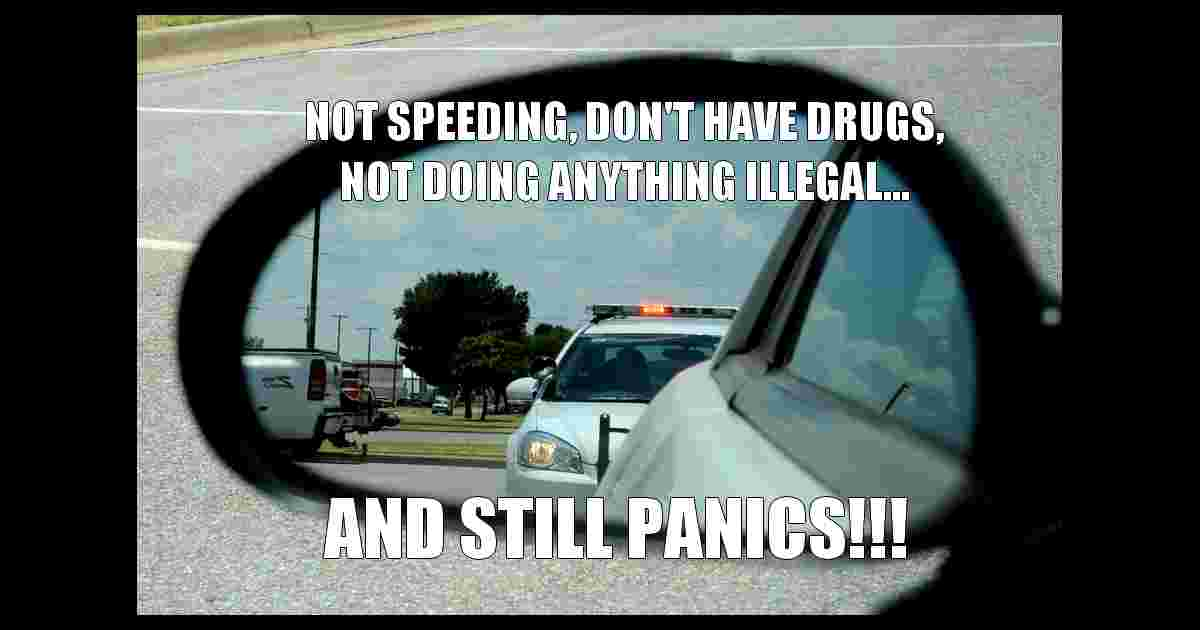 Panic when see police