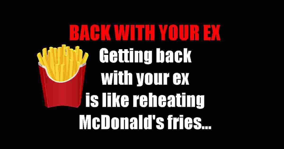 Relationship with ex funny quote