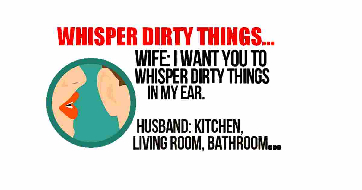 Whispering dirty things humor quote