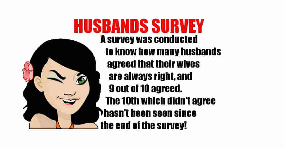 Survey about husbands funny quote