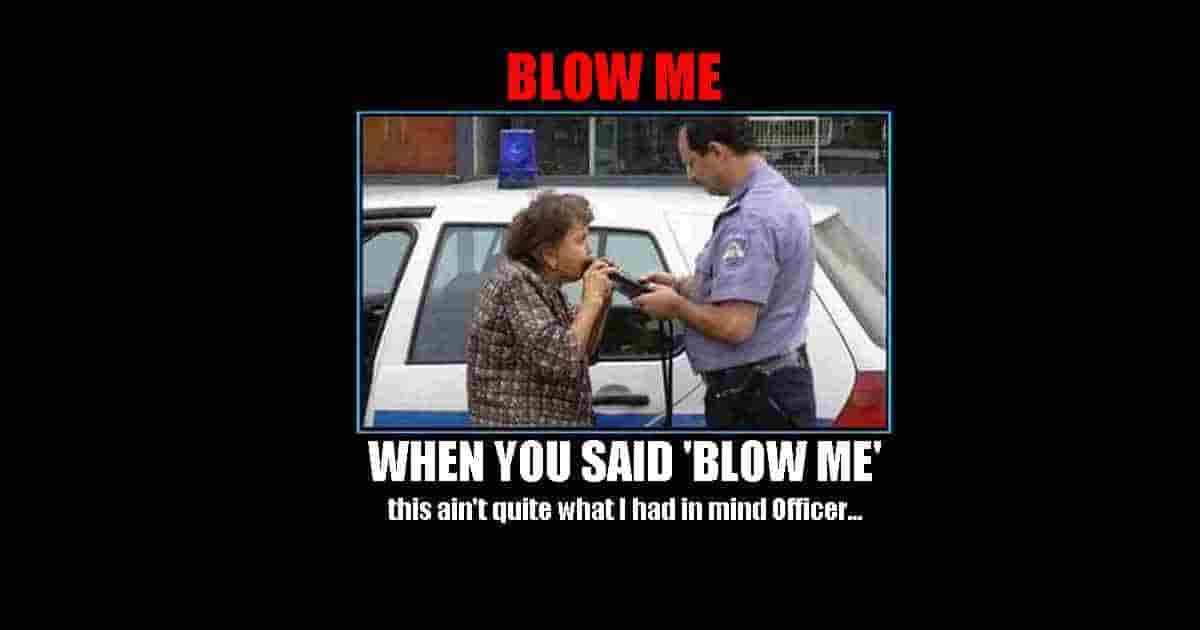 Police sobriety test funnny quote