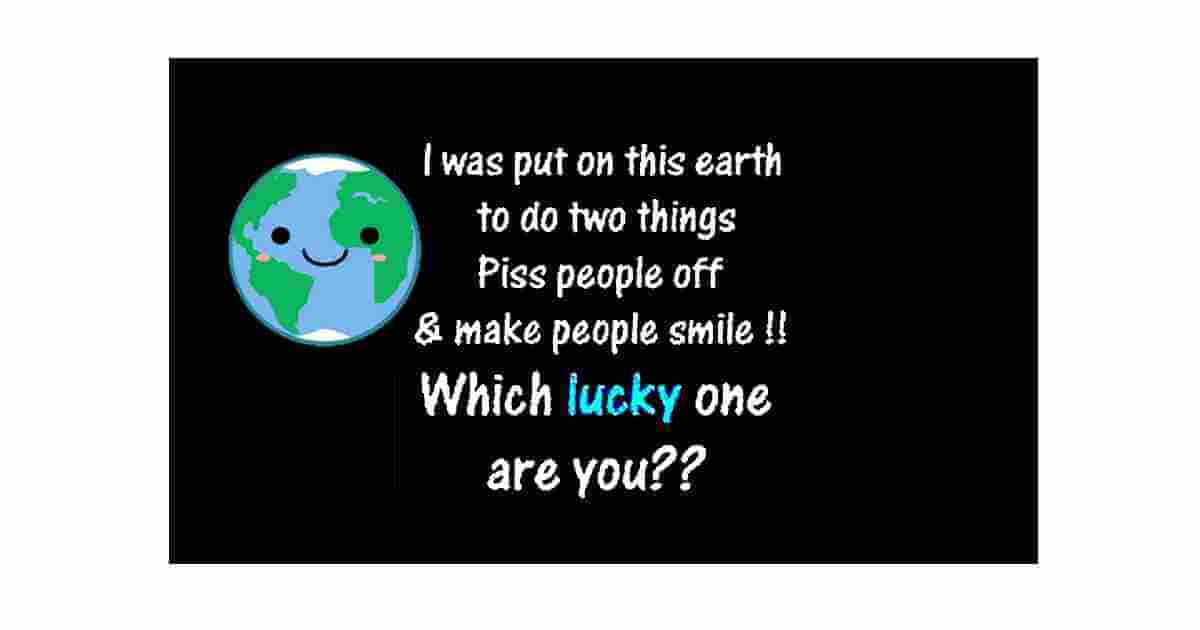 Lucky one funny quote
