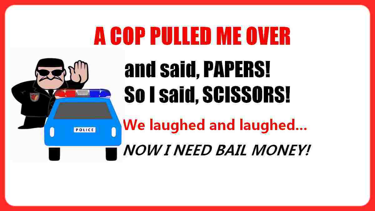 a cop pulled me over funny quote