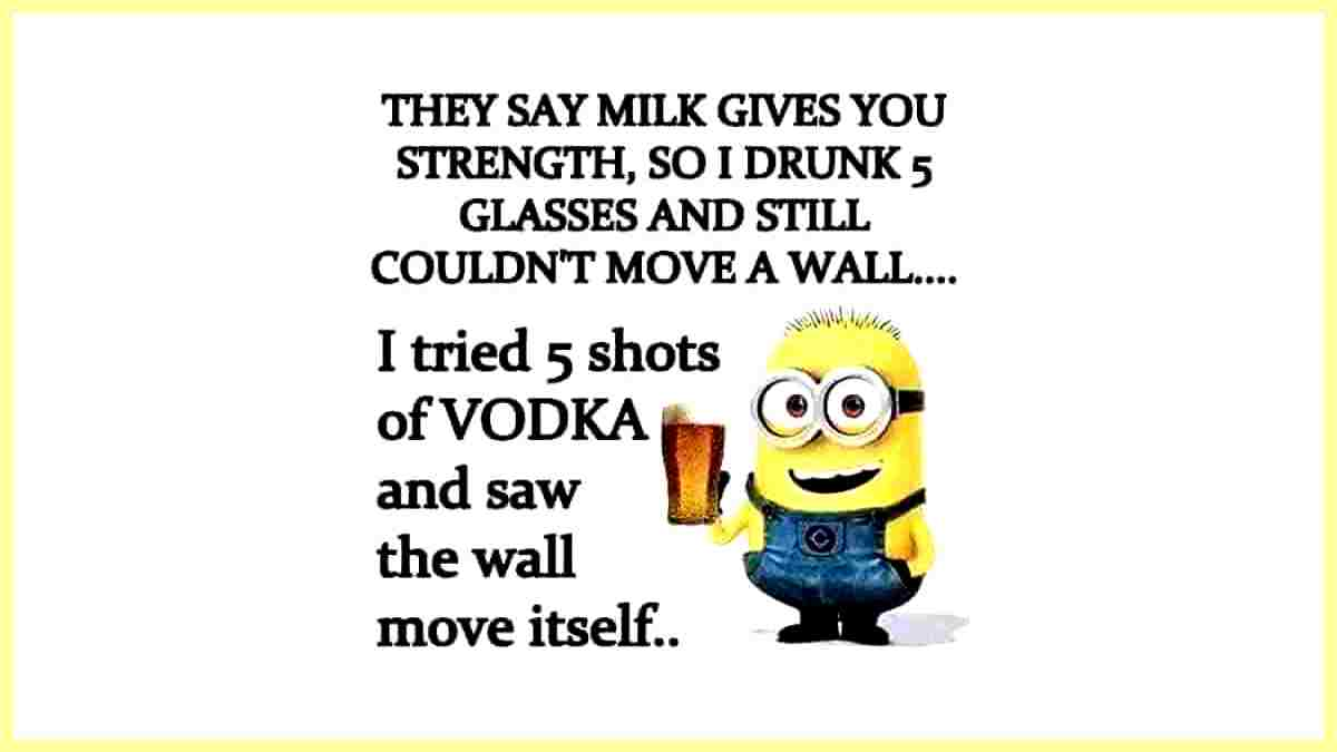 Milk gives you strength funny quote