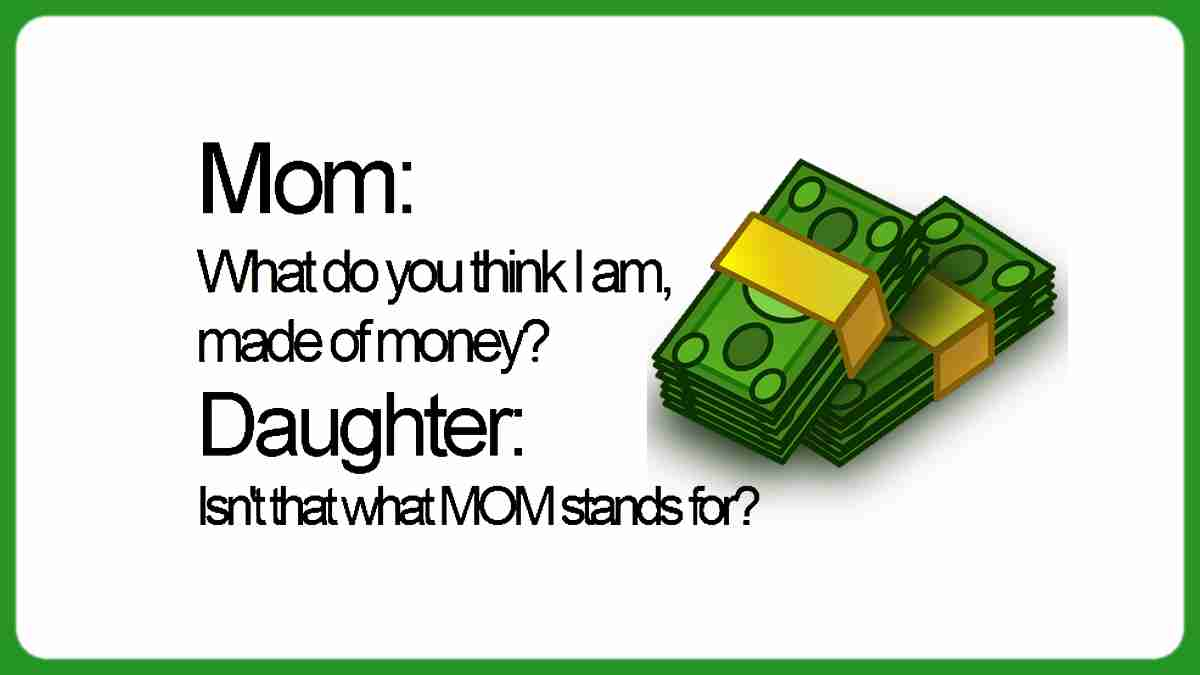 Mom and Daughter funny shopping quote