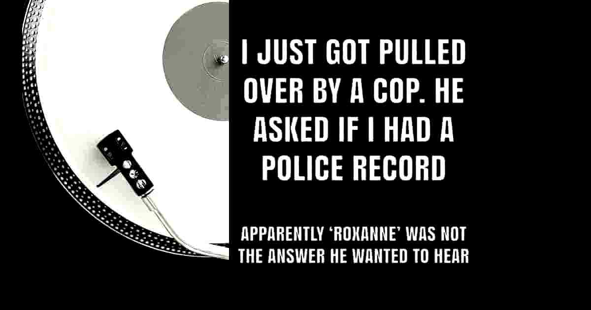 Humor police record and music band