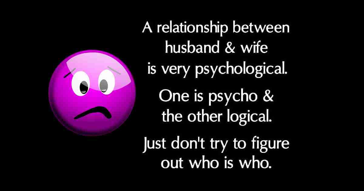 Funny quote about relationship wife and husband.