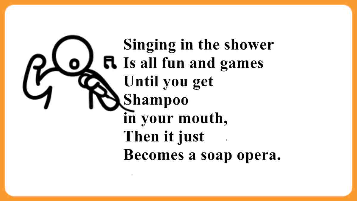 Funny singing in the shower