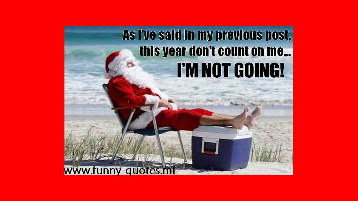 This year don't count on Santa Clause