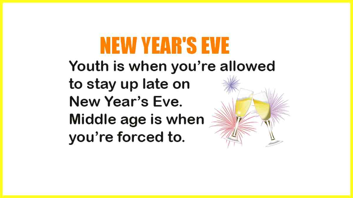 Your age and new year's eve