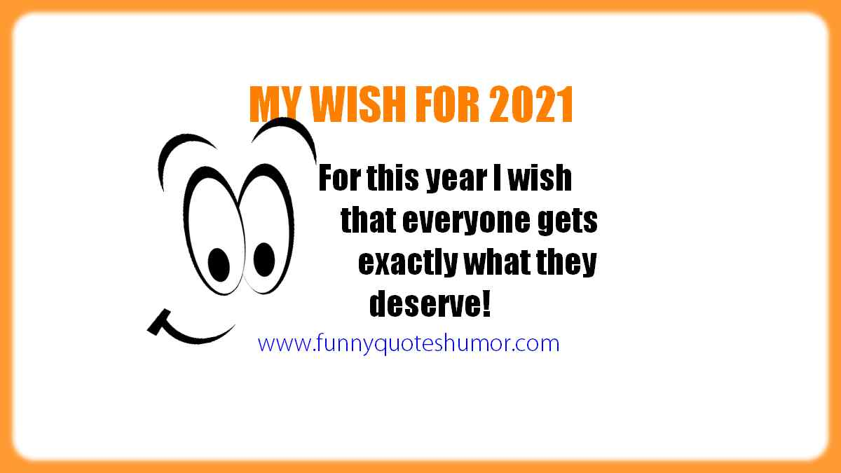 My wish for 2021